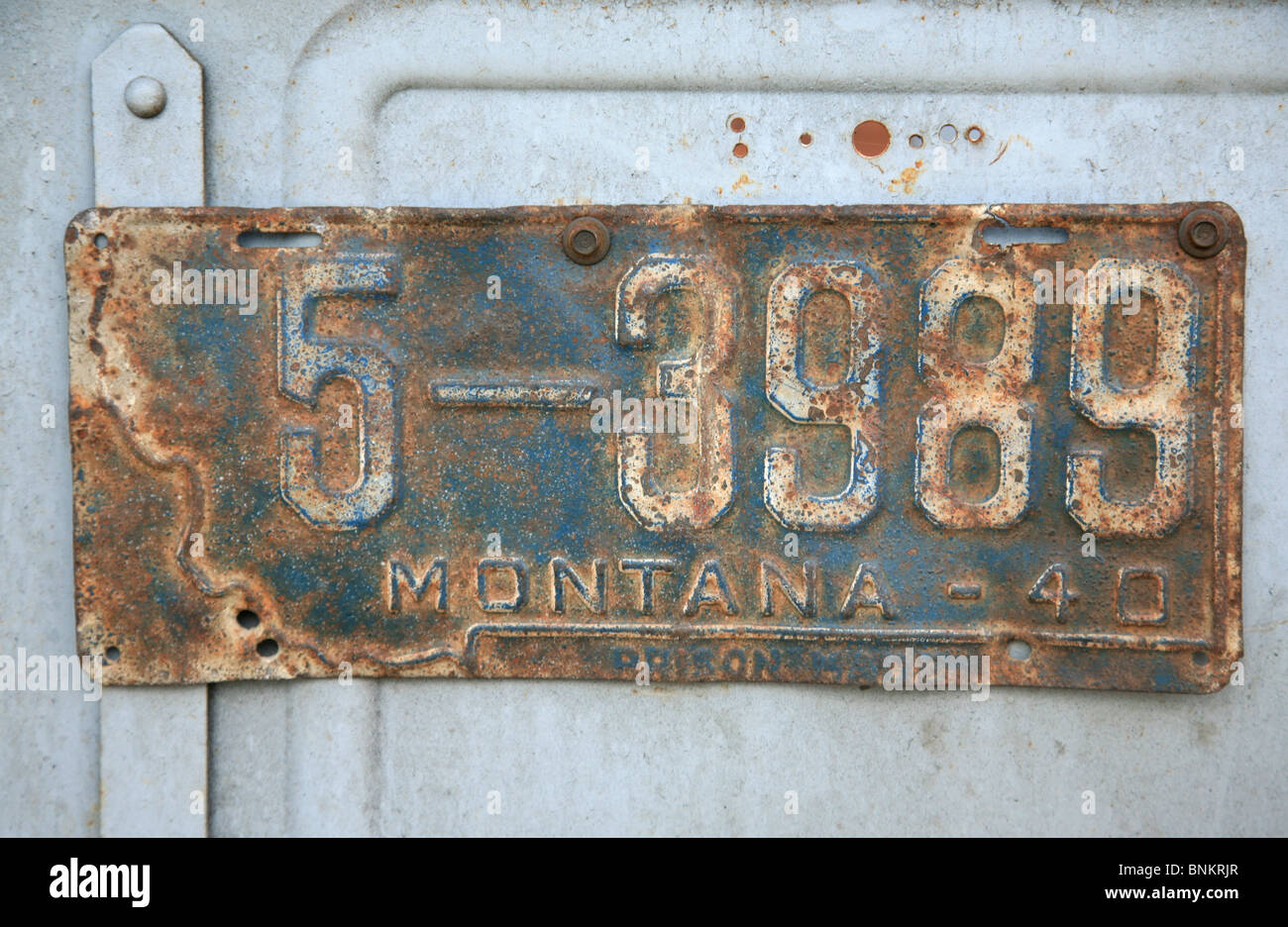 Old rusty license plate Stock Photo: 30553791 - Alamy