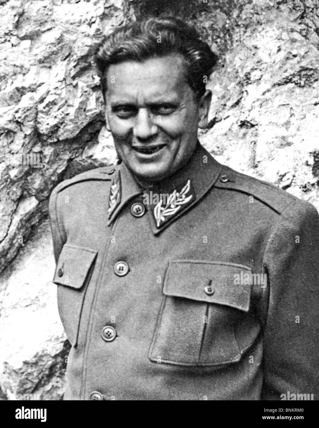 JOSIP BROZ TITO (1892-1980) Yugoslav revolutionary and statesman here about 1944