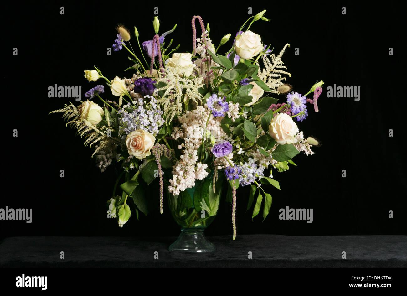 White purple flower arrangement stock photo 30554438 alamy white purple flower arrangement mightylinksfo
