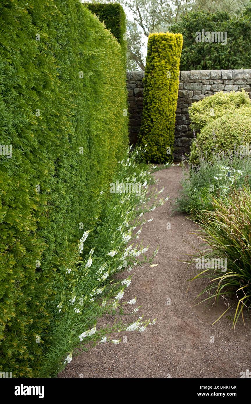 Herterton House Garden,  Nr Cambo, Northumberland, UK - The Flower Garden - Stock Image
