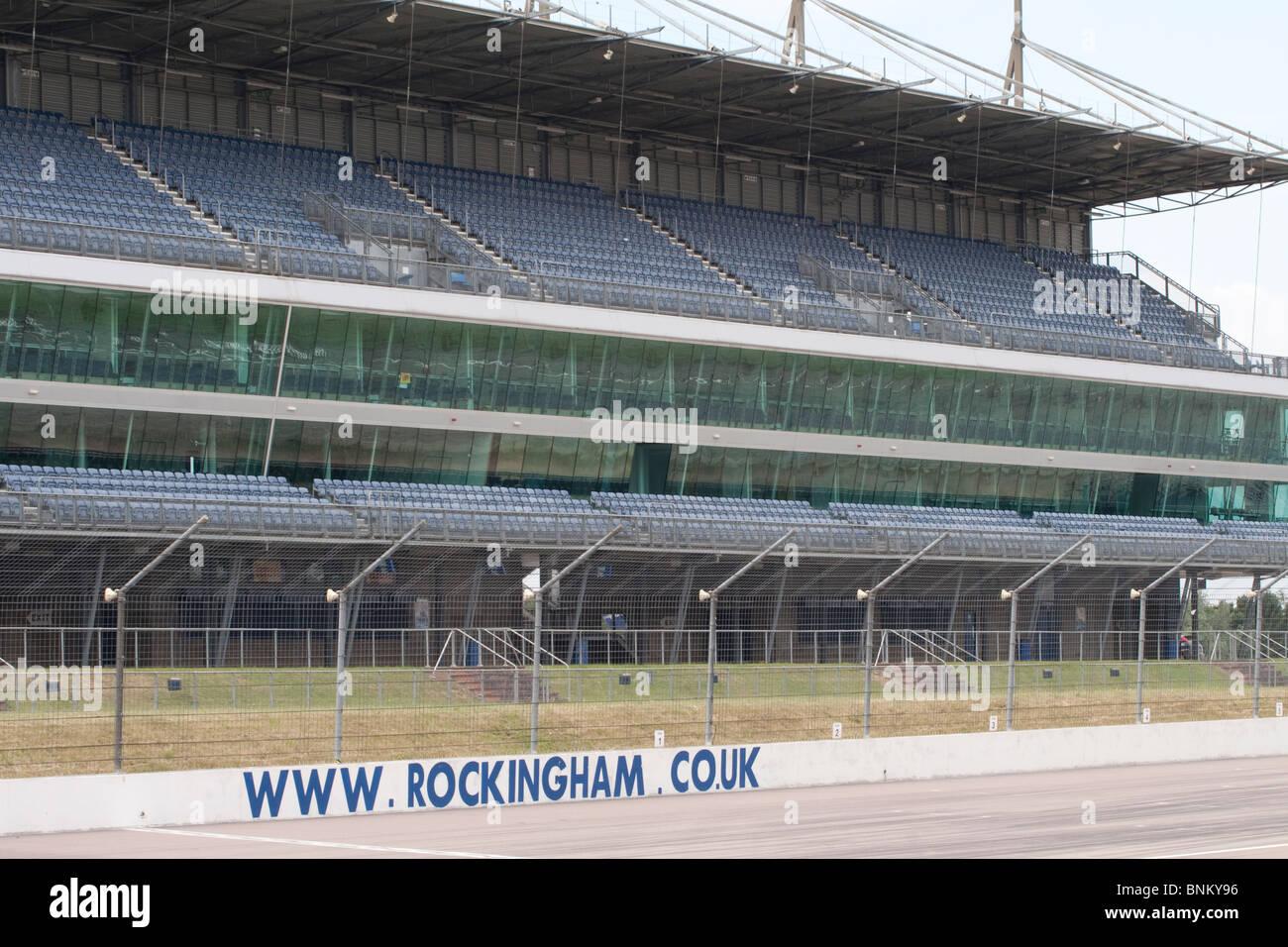 Rockingham Motor Speedway stadium - Stock Image