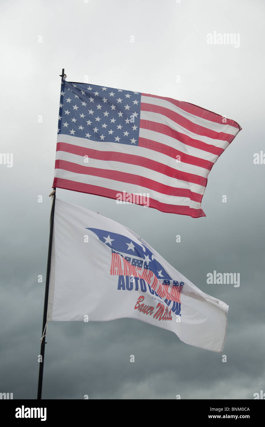 American Flags Car Stock Photos American Flags Car Stock Images - Car show flags