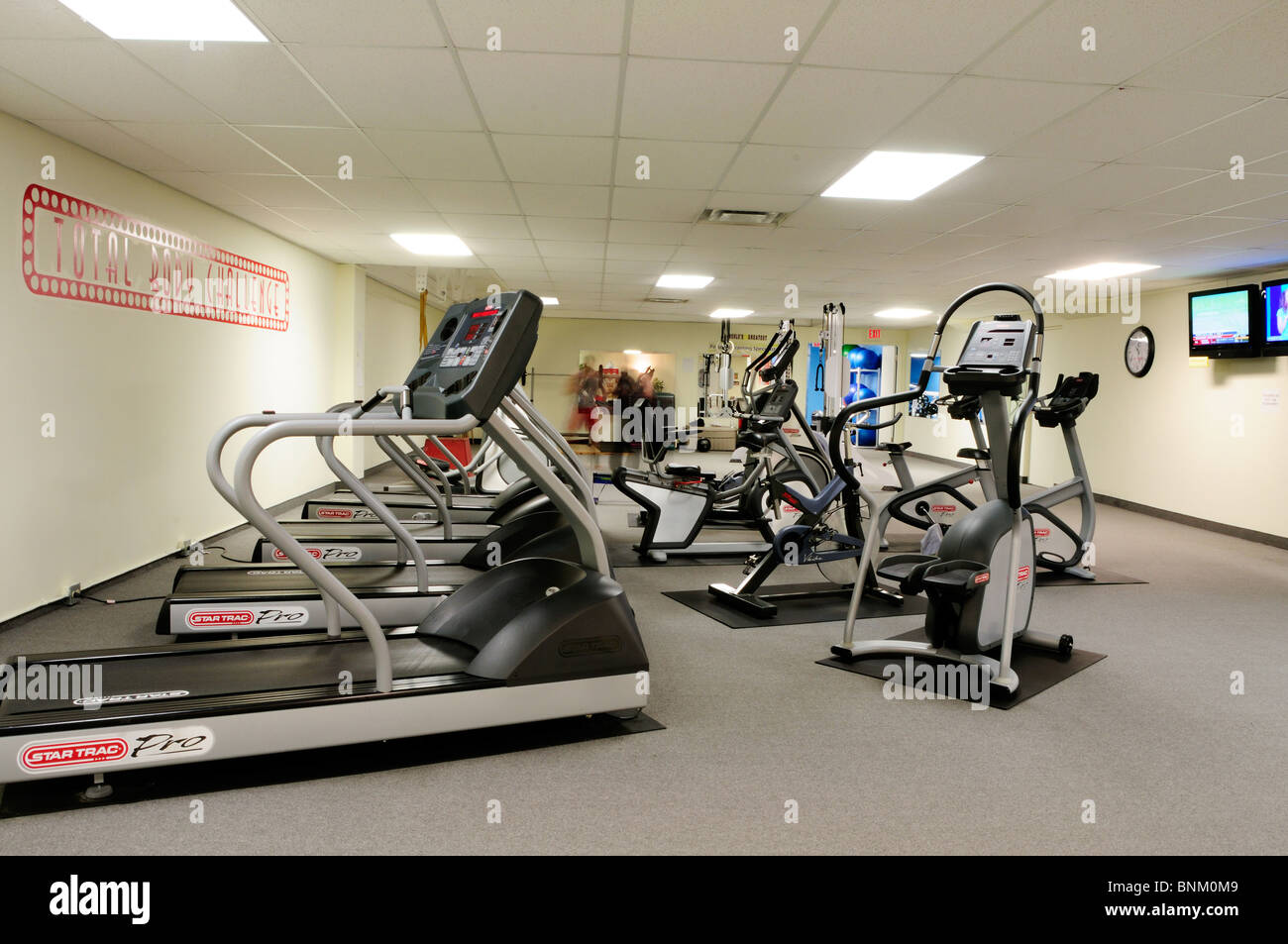 Interior Of A Commercial Gym - Stock Image