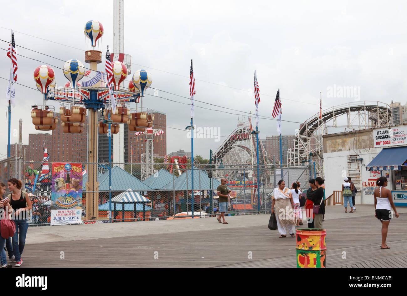 Balloon ride Coney Island - Stock Image