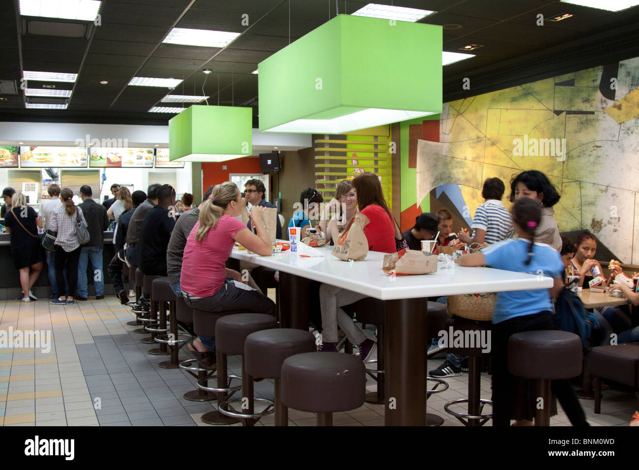 Mcdonalds Restaurant - Camden Town - London - Stock Image