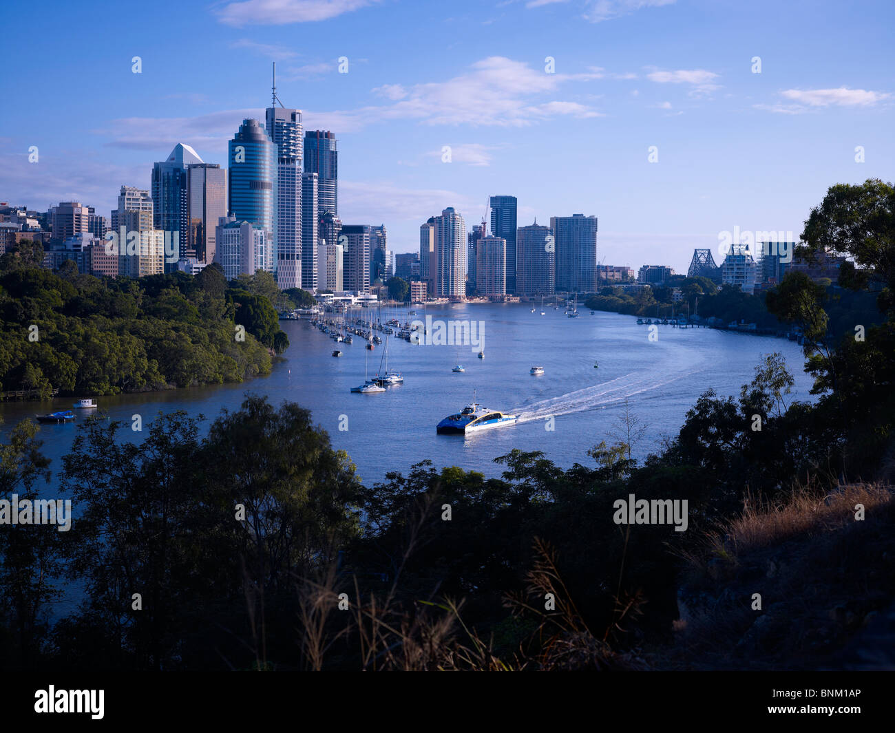 Brisbane Australia, cityscape from Kangaroo Point - Stock Image