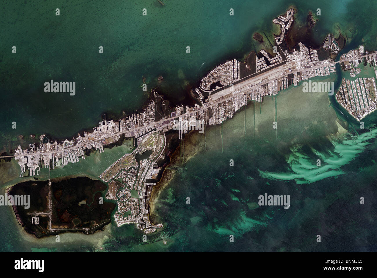 Map Of The Keys Florida.Aerial Map View Above Marathon Key Florida Keys Stock Photo