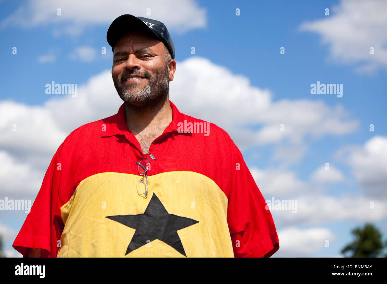 Portrait of a Ghanaian man - Stock Image