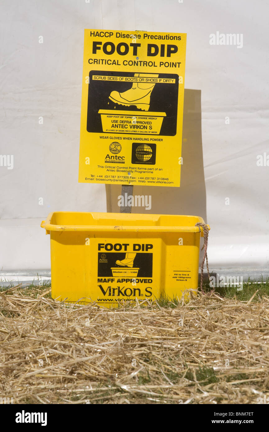 Foot Dip at an agricultural show - Stock Image
