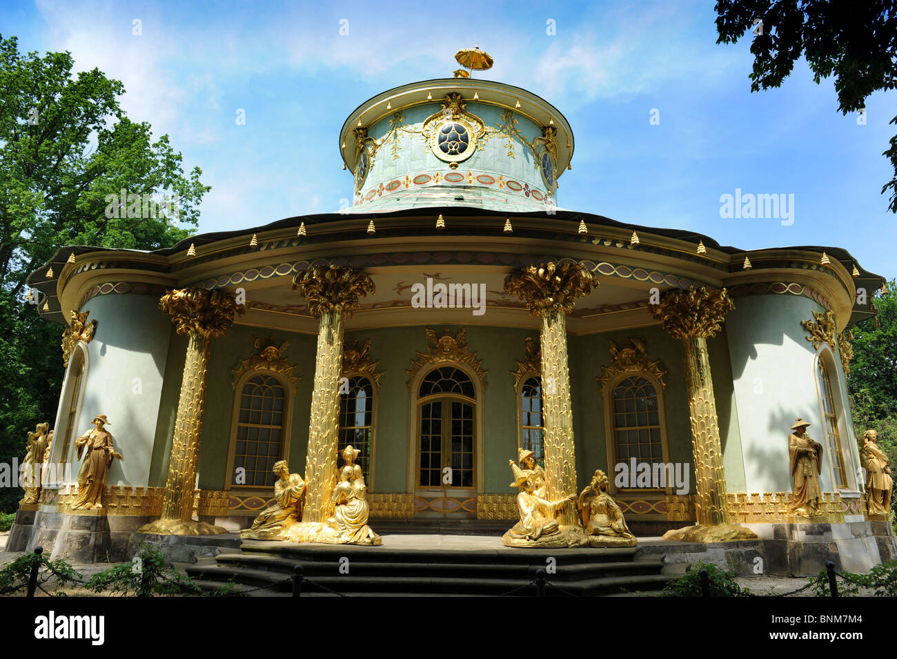 Chinese Tea House Sanssouci Park Potsdam Berlin Germany Deutschland Europe - Stock Image