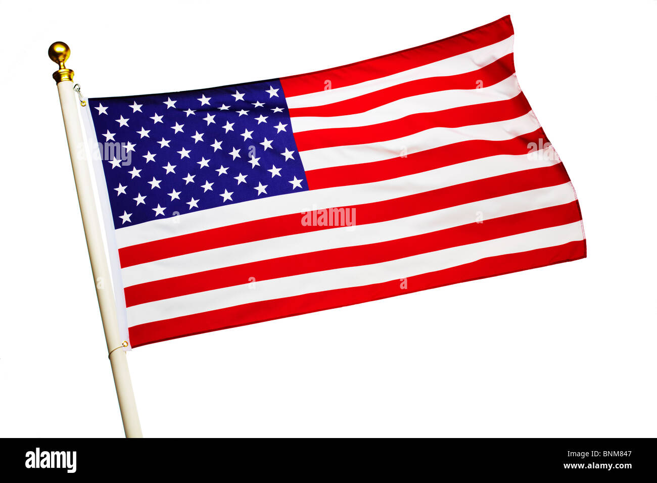 American Flag Flying - Stock Image