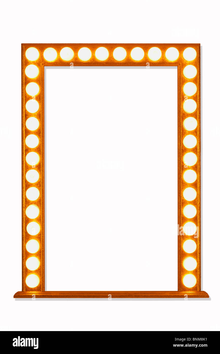 Mirror Frame in Lights Stock Photo: 30563989 - Alamy