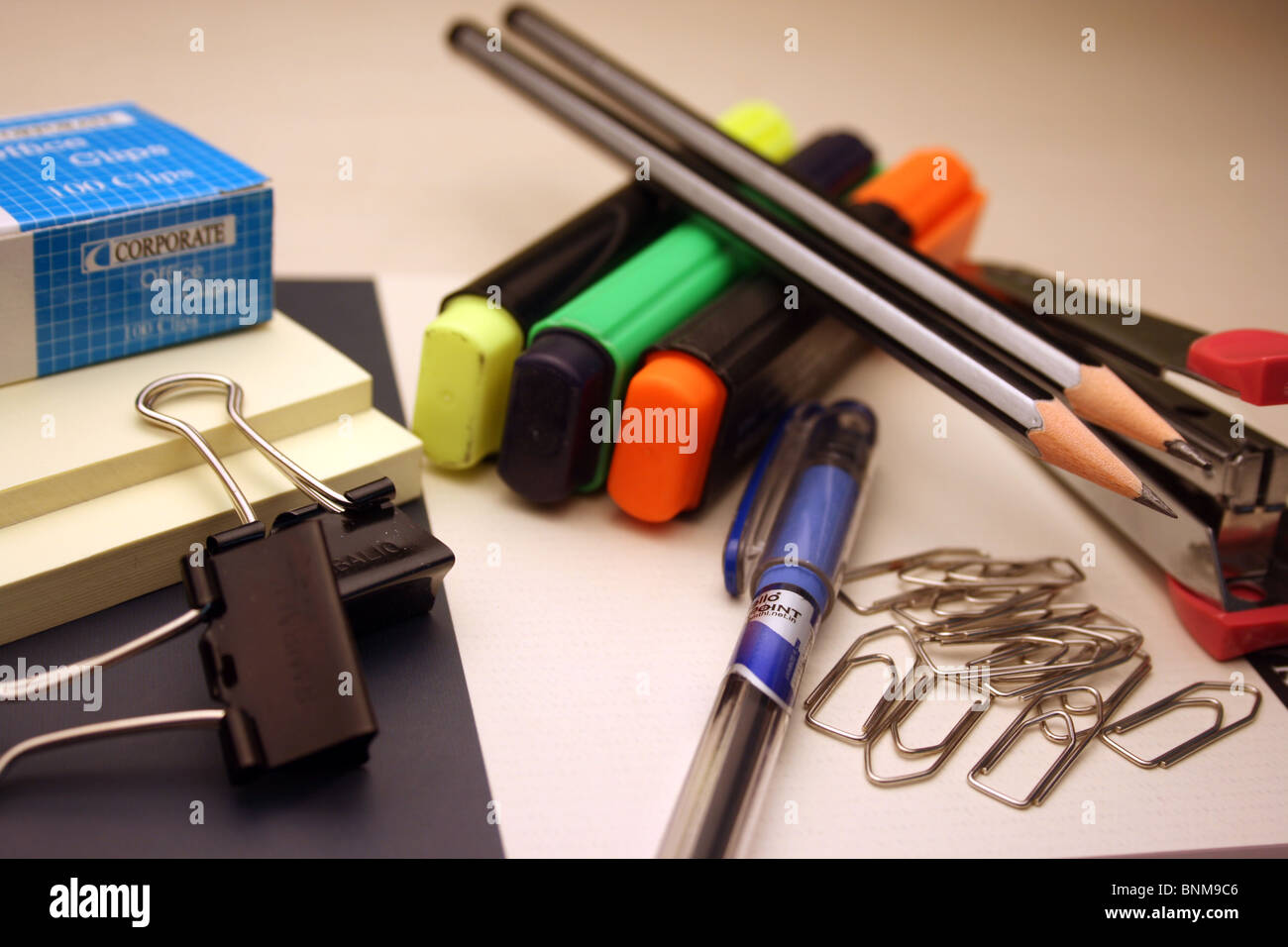 Office stationary close up - Stock Image