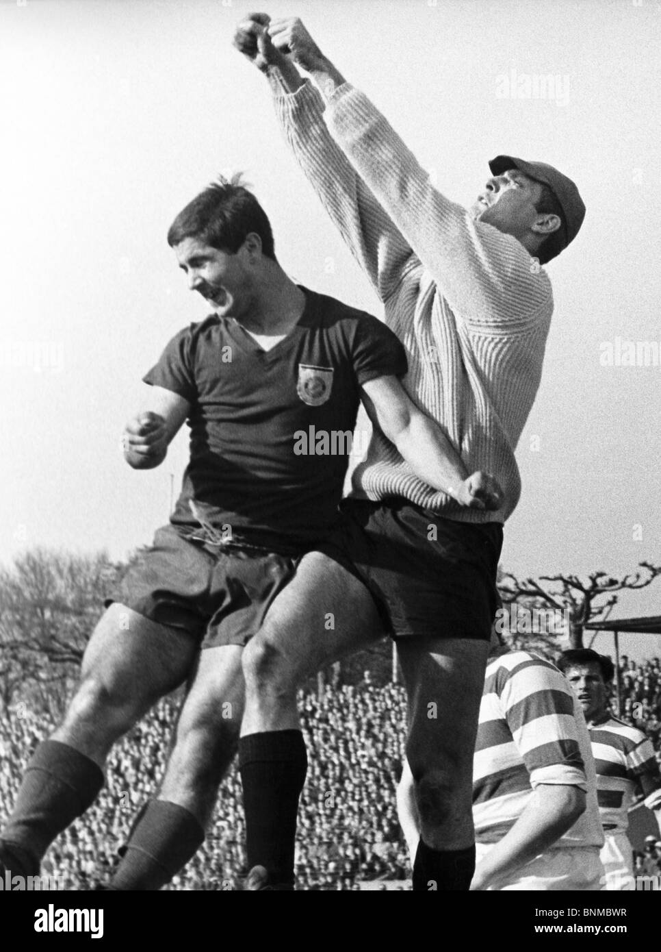 1966 1967 ball Bavaria federal league Germany football soccer footballer professional football player football soccer - Stock Image