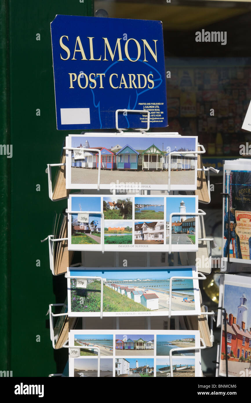 Post Cards On Sale at Southwold,Suffolk,England - Stock Image
