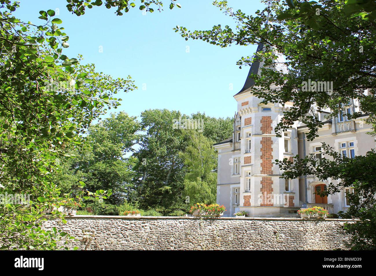 Photo of Castle in Villemandeur Lisledon in the Loiret Stock Photo
