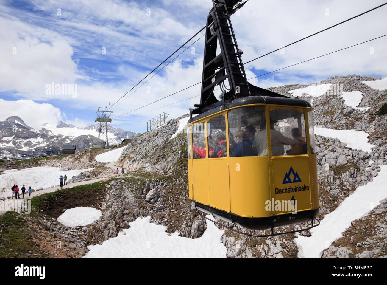 Dachstein World Heritage Cableway cablecar on Krippenstein mountain in the Dachstein Massif in summer. Obertraun, - Stock Image
