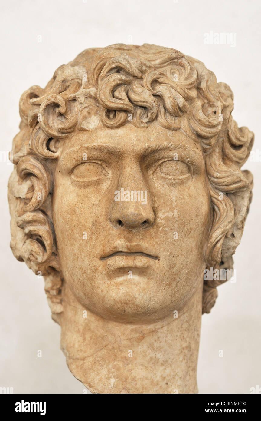 Rome. Italy. National Museum of Rome. Palazzo Massimo alle Terme. Antinous. Da Villa Adriana. Età Adriana (117 - Stock Image