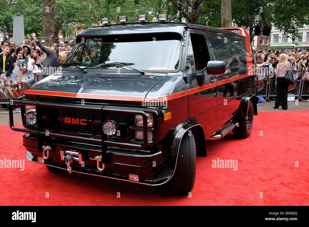 The A-Team van on the red carpet at the UK Premiere of The A-Team at The Empire Leicester Square, London, 27th July - Stock Image