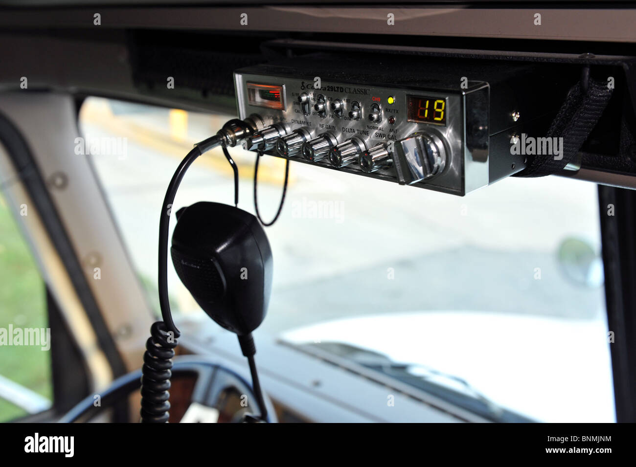 A cb radio in the cab of a semi truck Stock Photo: 30571904 - Alamy
