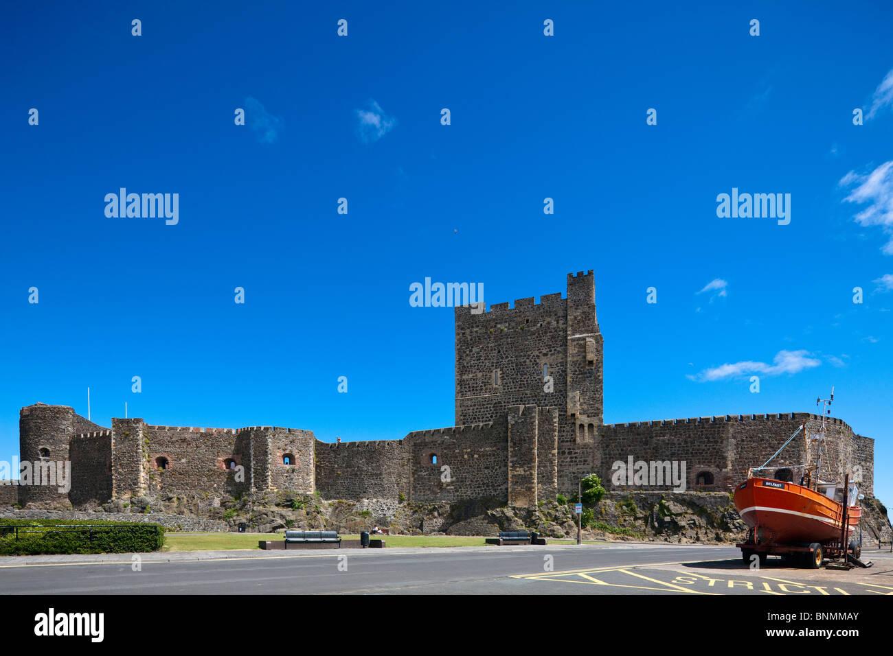 Carrickfergus castle, Northern Ireland, UK - Stock Image
