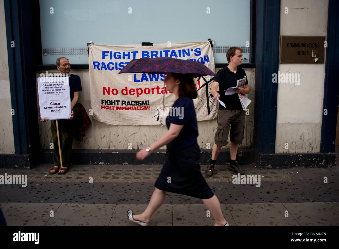 Protest against UK Immigration Service - Stock Image