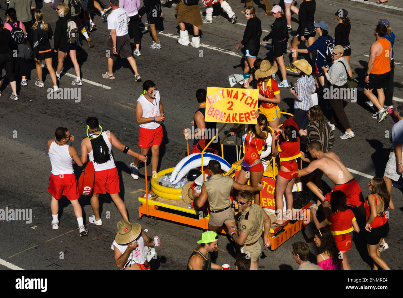 California: San Francisco Bay to Breakers annual foot race. Photo copyright Lee Foster. Photo # 31-casanf80847 - Stock Image