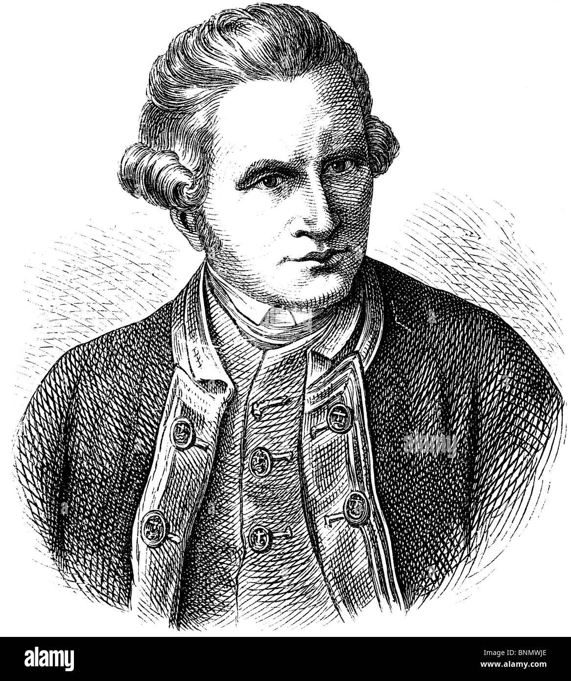 James Cook (1728–1779), (Captain) British explorer