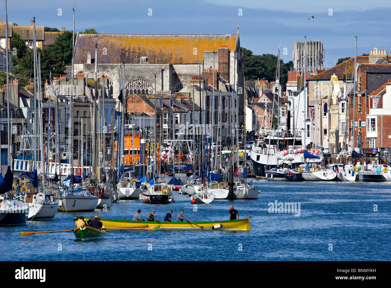 weymouth harbour dorset england uk gb - Stock Image