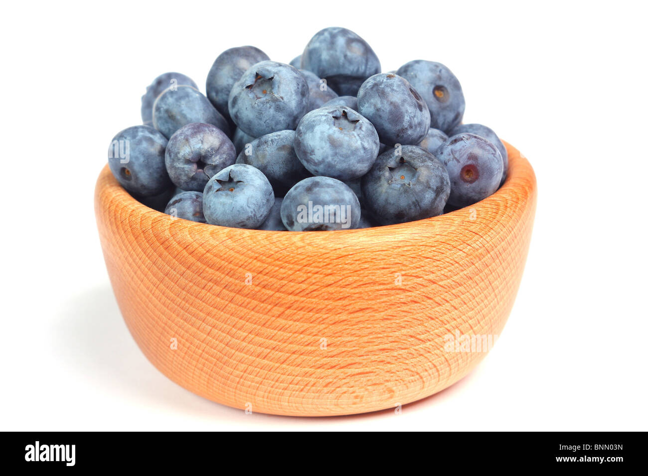 Blueberries in the bowl - Stock Image
