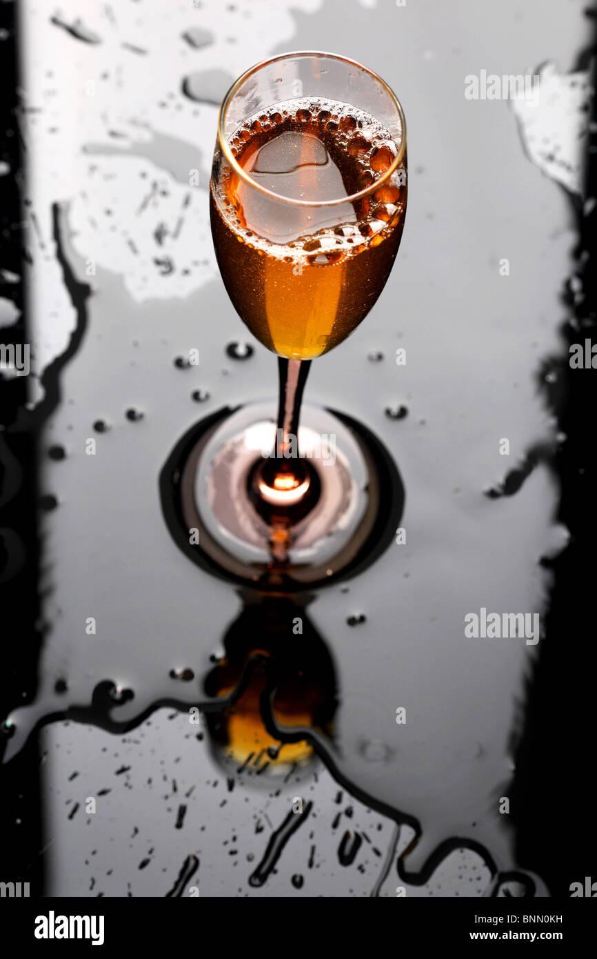 glass wine drink - Stock Image