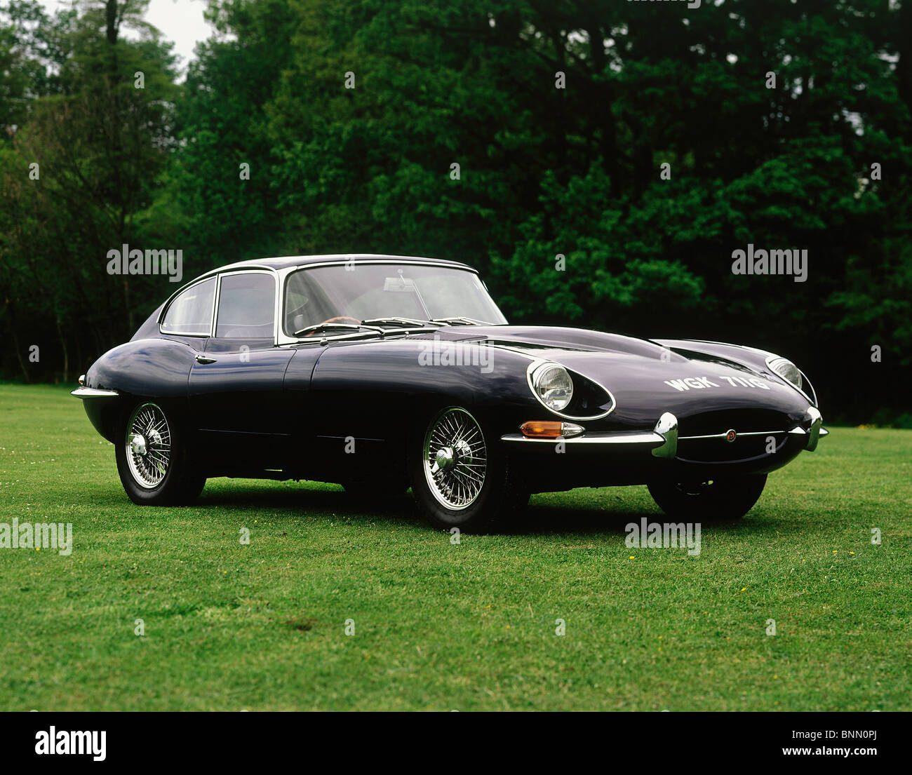 1968 Jaguar E type Series II 4.2 Fixed Head Coupe - Stock Image