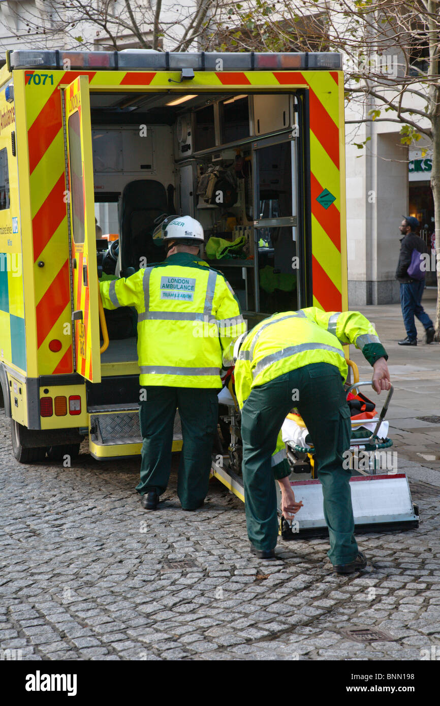 Loading Accident Victim Ambulance Stock Photos & Loading