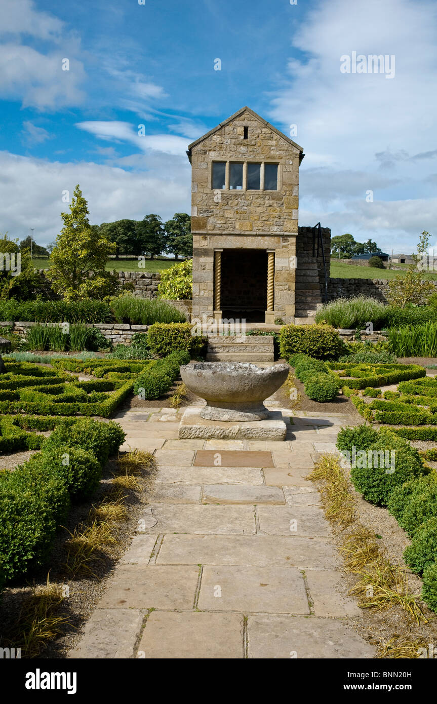 Herterton House Garden, Nr Cambo, Northumberland, UK - The Parterre / Fancy Garden - Stock Image