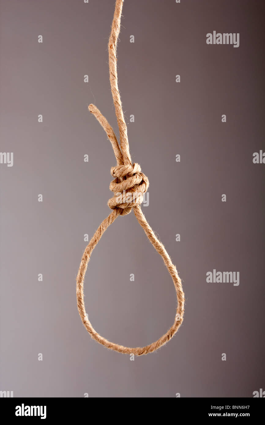 Noose made of rope - Stock Image