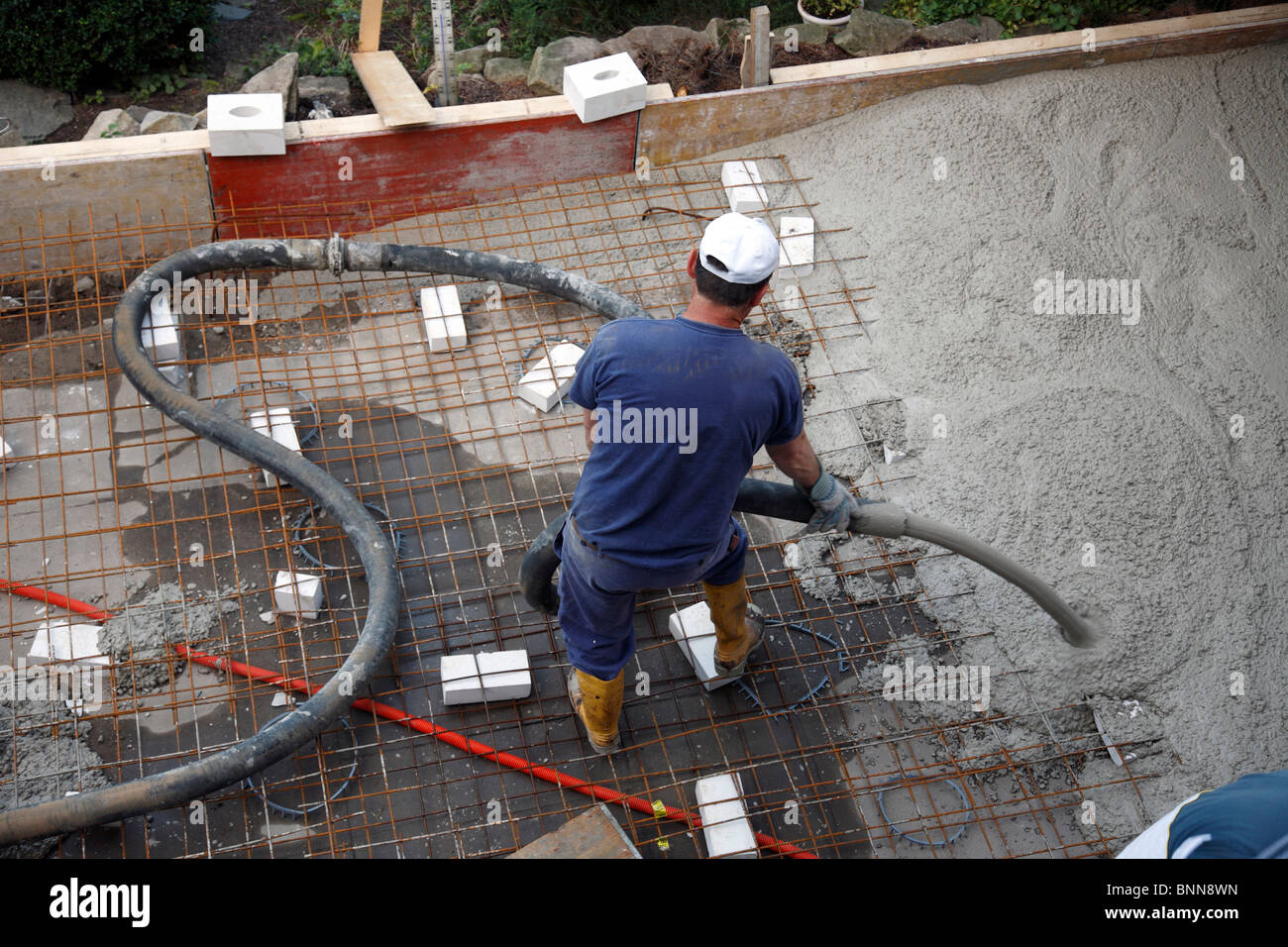 building industry superstructure work building site building works structural work handicraft trade professional - Stock Image