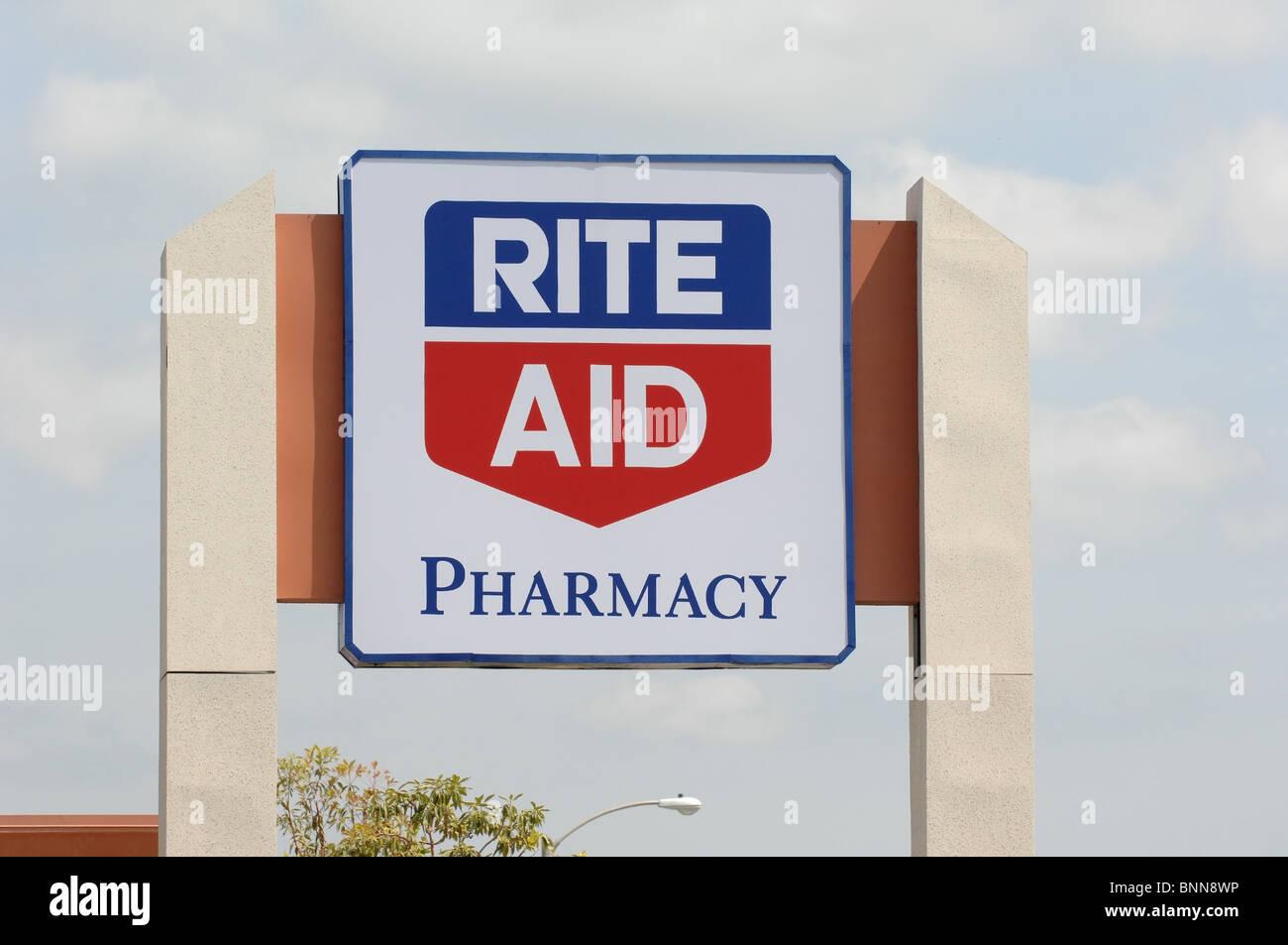 Rite Aid Pharmacy in Orange, CA - Stock Image