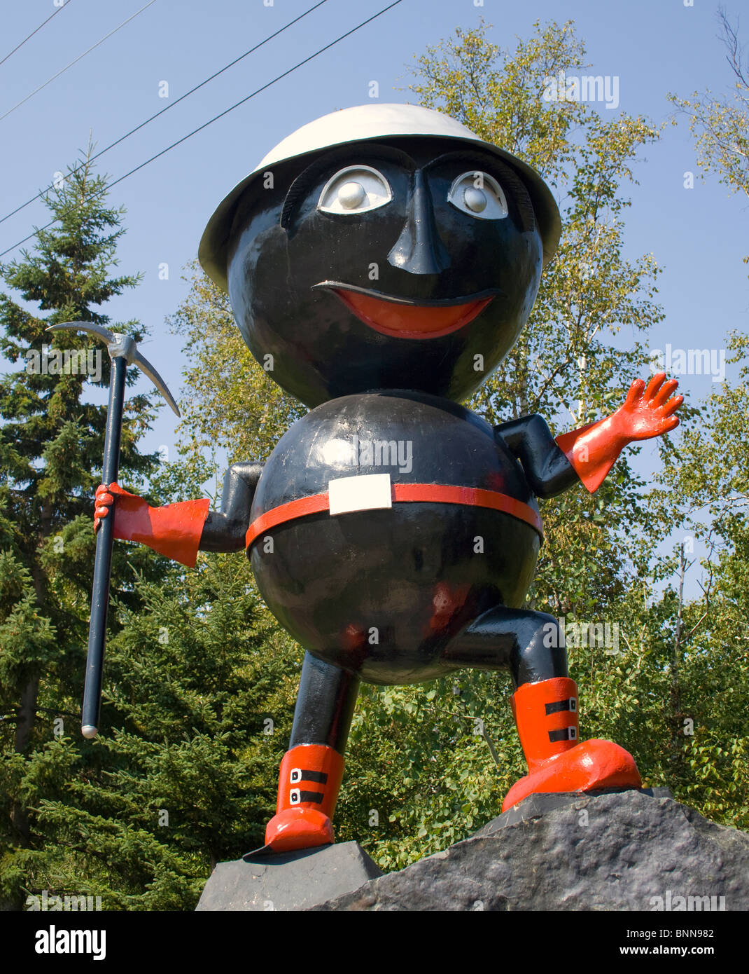 Rocky Taconite Statue in Silver Bay Minnesota - Stock Image