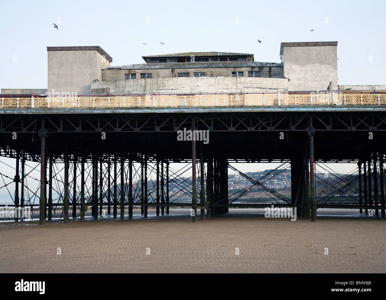 Colwyn Bay Pier North Wales - Stock Image