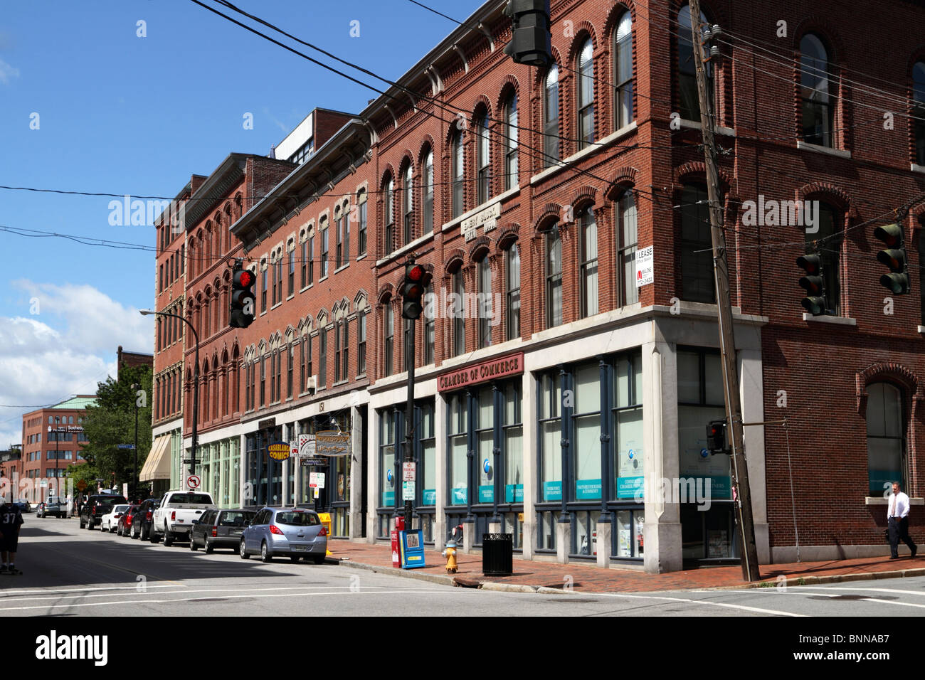 Building housing the Portland Chamber of Commerce, Portland, Maine, USA. - Stock Image