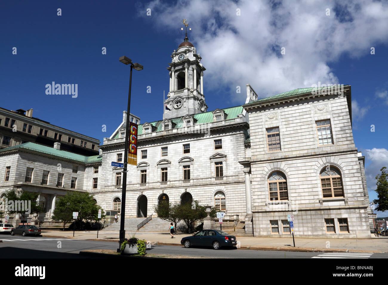 Portland City Hall, Portland, Maine, USA. The building was designed in the French Renaissance style. - Stock Image