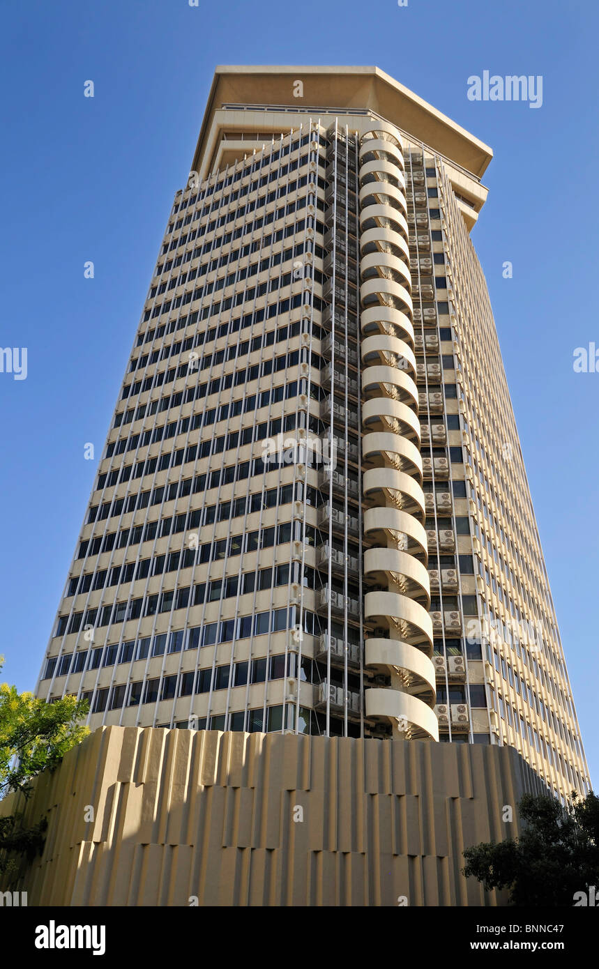 Edificio Colón (Torre Maritima), skyscraper in Barcelona, Raval, Catalunya, Spain, Europe - Stock Image