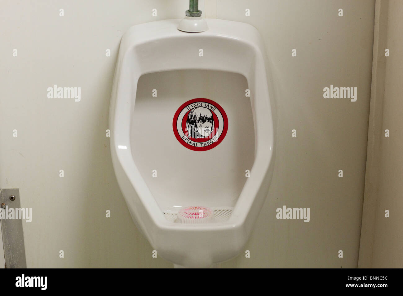 Urinal Decorated With A Message Against Hanoi Jane Fonda In