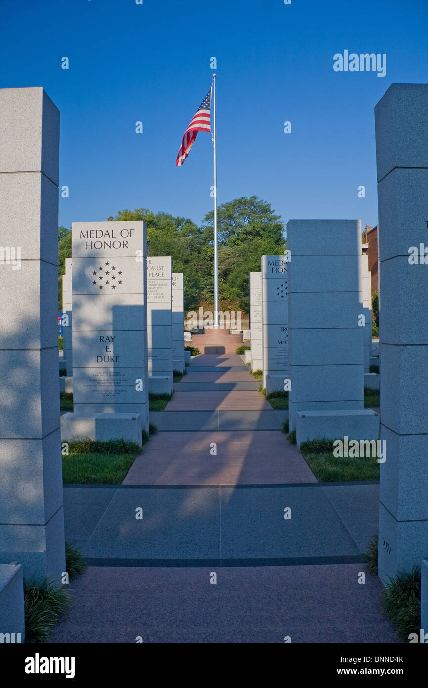 Veteran's Memorial in Knoxville, Tennessee - Stock Image