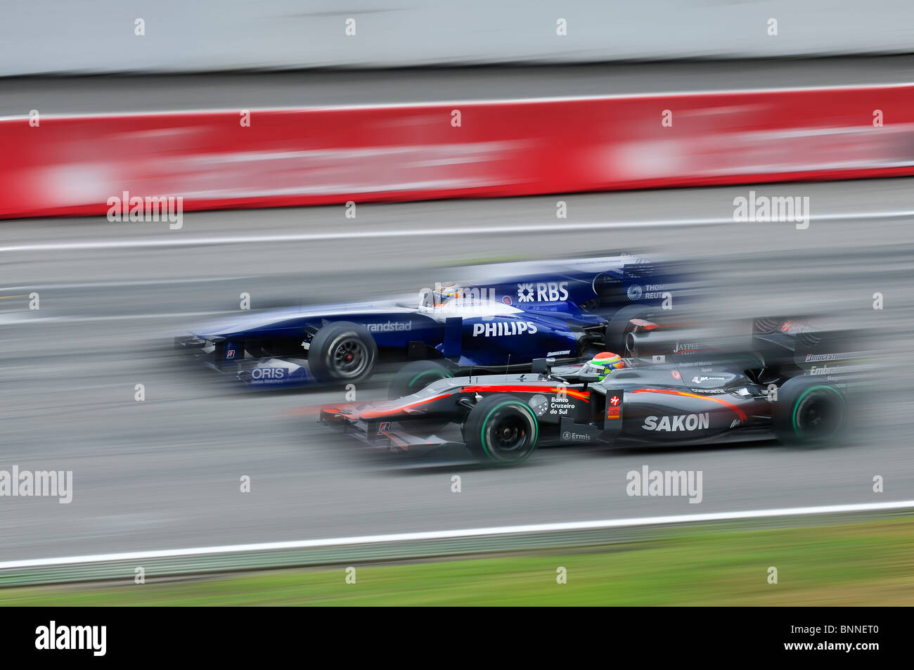 Formula 1 Hockenheimring Hockenheim Germany Europe one formula racing motor sport cars driving fast 1 - Stock Image