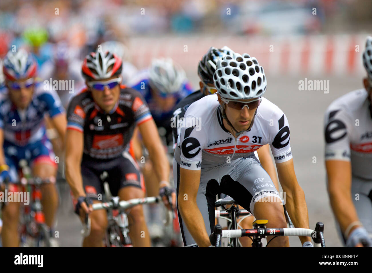 A professional cyclist from Cervelo Test Team rides amongst the peleton  during the 2010 Tour de 947f265e2