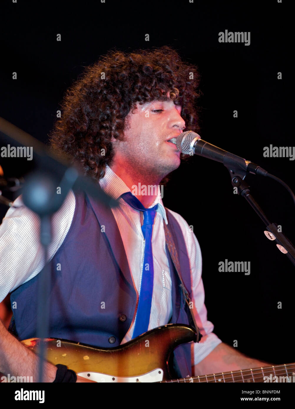 rock group vocalist - Stock Image