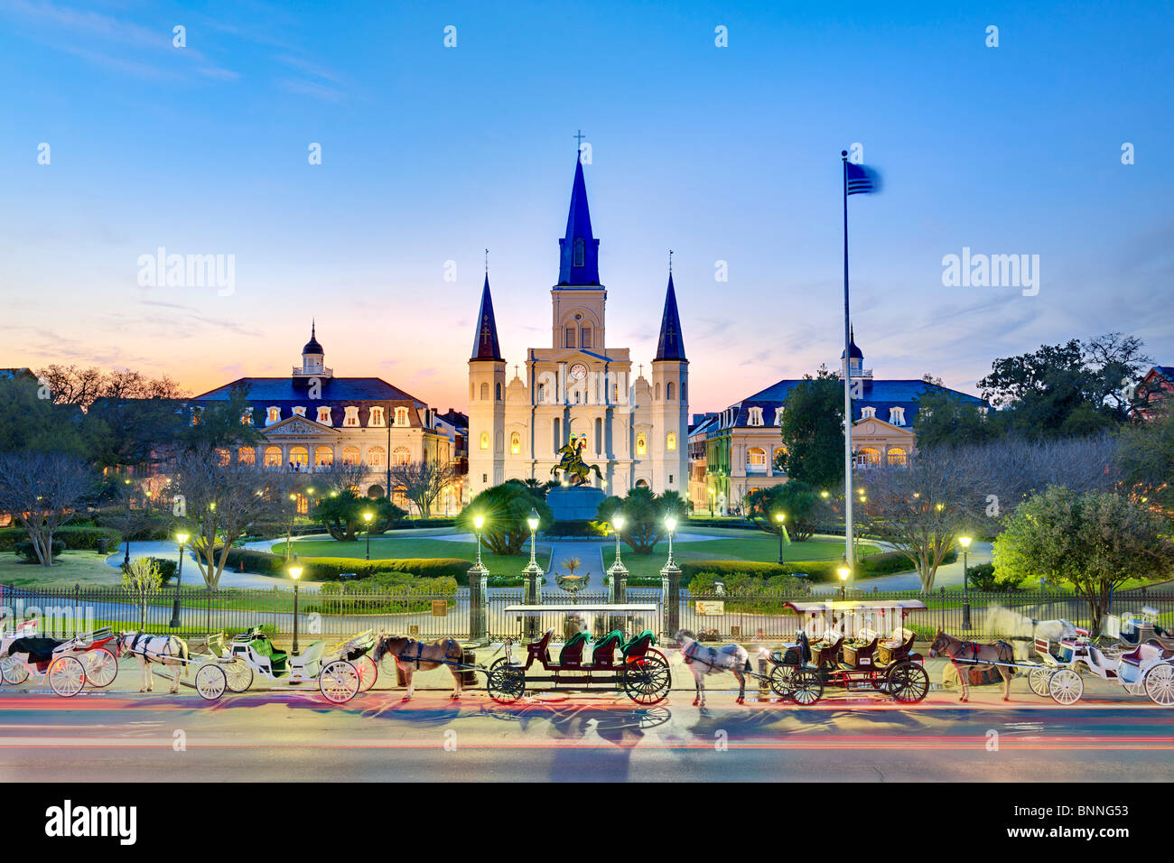 St Louis Cathedral, Jackson Square, New Orleans, Louisiana Stock Photo