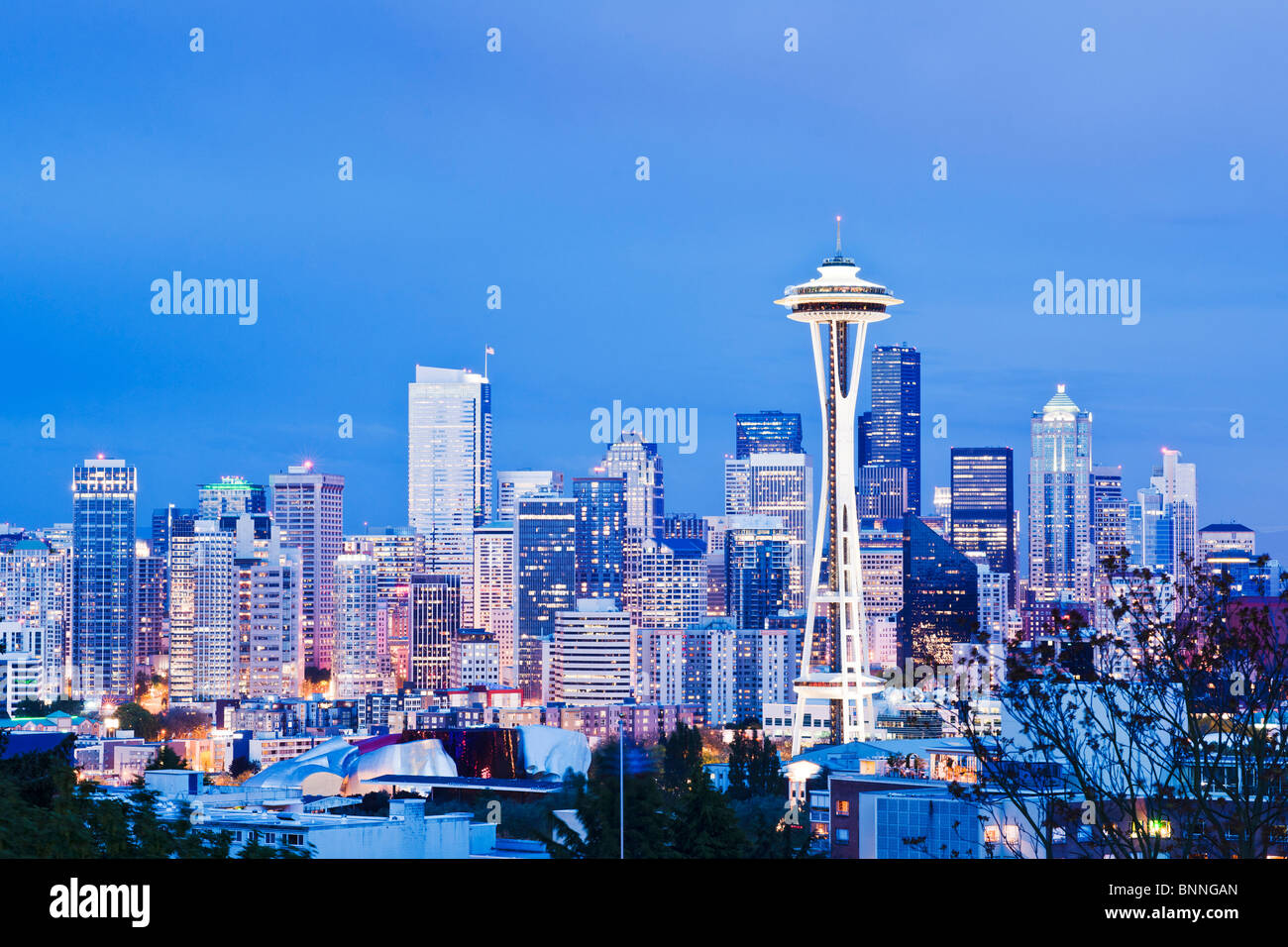 Space needle, Seattle, Washington - Stock Image