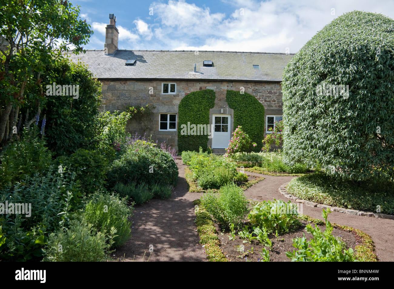 Herterton House Garden, Nr Cambo, Northumberland, UK - The Physic Garden - Stock Image
